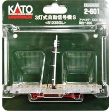 Kato HO Scale Unitrack Automatic 3-Color Signal Track