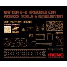 Meng 1:35 British R-R Armored Car Accessories Plastic Model Kit