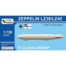 Mark I Models 1/720 Zeppelin LZ38 Plastic Model Kit