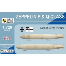 Mark I Models 1/720 Zeppelin P & Q Plastic Model Kit