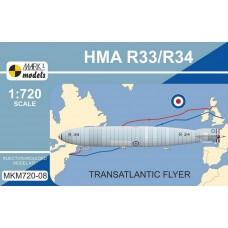 MARK I MODELS 1/720 HMA R33/R34 Transatlantic Plastic Model Kit