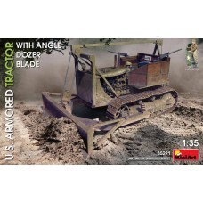 Miniart 1:35 US Armored Tractor with Angle Dozer Blade Plastic Model Kit