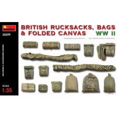 Miniart 1:35 WWII British Rucksacks, Bags & Folded Canvas Plastic Model Kit