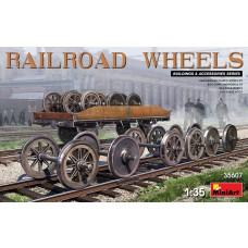 Miniart 1:35 Railroad Wheels Plastic Model Kit