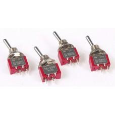 Miniature Toggle Switch; Single Pole, Single Throw On/Off 5 Amp 120V