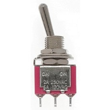 SPDT 5Amp 120V Miniature Toggle Switches