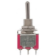 SPDT 5Amp 120V Momentary Miniature Toggle Switches