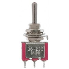 SPDT 5Amp 120V Center Off Miniature Toggle Switches