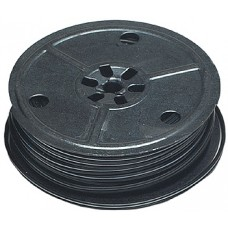 Black 28-Gauge Flat Two-Conductor Stranded Miniature Wire