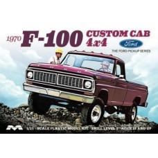 Moebius 1/25 1970 Ford F100 4x4 Pickup Truck Plastic Model Kit 1230