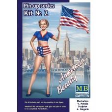Masterbox 1:24 Betty American Beauty Pin-Up Plastic Model Kit