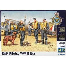 Masterbox 1:32 WWII RAF Pilots w/Dog Plastic Model Kit