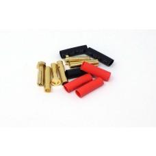 MT Racing 4mm Low Profile Bullet Connectors (3 pair)