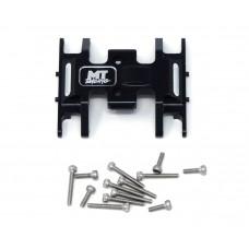 MT Racing Black Aluminum Center Skid Plate Axial SCX24