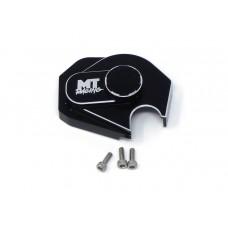MT Racing Black Aluminum Gear Box Cover Axial SCX24