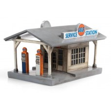 Classic Metal Works HO Scale Gulf Rural Gas Station Train Accessory TC116
