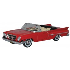 Oxford Diecast HO Scale 1961 Chrysler 300 Convertible Red