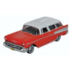 Oxford Diecast HO Scale 1957 Chevy Nomad Rio Red