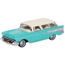 Oxford Diecast HO Scale 1957 Chevy Nomad Surf Green