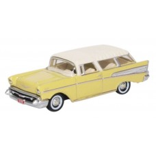 Oxford Diecast HO Scale 1957 Chevy Nomad Colonial Cream