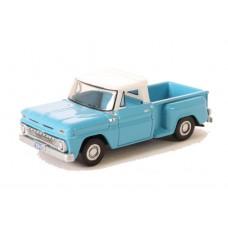 Oxford Diecast HO Scale 1965 Chevy Stepside Pickup Light Blue