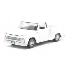 Oxford Diecast HO Scale 1965 Chevy Stepside Pickup White