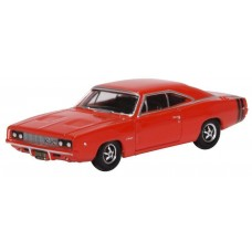 Oxford Diecast HO Scale 1968 Dodge Charger Bright Red