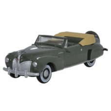 Oxford Diecast HO Scale 1941 Lincoln Continental Pewter Grey