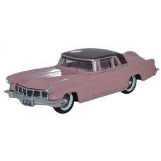 Oxford Diecast HO Scale 1956 Lincoln Continental MkII Amethyst/Dubonnet