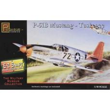 Pegasus 1/48 Snap P-51B Tuskegee Plastic Model Kit 8404