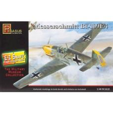 Pegasus 1/48 Snap Messerschmitt Bf-109E4 Plastic Model Kit 8412