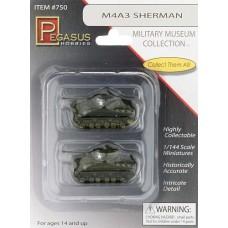 Pegasus 1/144 M4A3 Sherman Tanks Pre-Built Plastic Model Kit