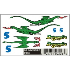 Pinecar Pinewood Derby Dry Transfer Decals Dragonfire