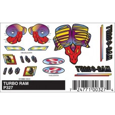 Pinecar Pinewood Derby Stick-On Decals Turbo Ram