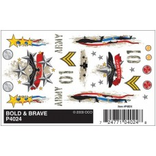 Dry Transfer Decals Bold and Brave