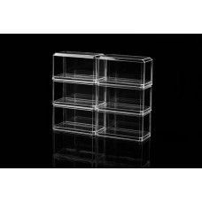 Pioneer Plastics 1/64 Scale Display Case Clear Base (6)