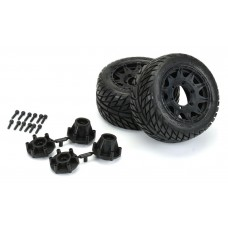 "Pro-Line Street Fighter 2.8"" Mounted Tires & Raid Black Wheels (2)"