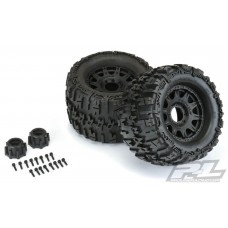 "Pro-Line Trencher X 3.8"" Tires Mounted Raid 8x32 17mm Wheels"