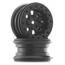 """Pro-Line Denali 2.2"""" Black Bead-Loc 8 Spoke Wheels"""