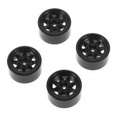 "RC4WD Stampede Steel 1.0"" Stock Black Beadlock Wheels (4) Z-W0229"