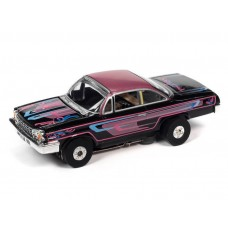 Auto World Thunderjet 1962 Chevy Bel Air Black HO Electric Slot Car