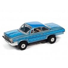 Auto World Thunderjet 1962 Chevy Bel Air Blue HO Electric Slot Car