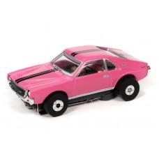 Auto World Thunderjet 1969 AMC AMX Pink HO Electric Slot Car