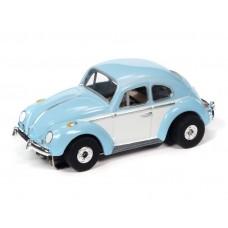 Auto World Thunderjet 1966 VW Beetle Blue HO Electric Slot Car
