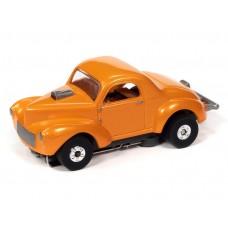 Auto World Thunderjet 1941 Willys Coupe Orange HO Electric Slot Car