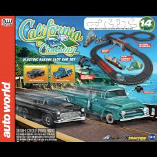 Auto World HO Scale 14' California Cruising Electric Slot Car Set