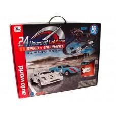 Auto World 16' 24 Hours of Le Mans HO Electric Slot Car Set SRS333