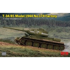 RyeField Model 1/35 T34/85 Model 1944 Factory Plastic Model Kit