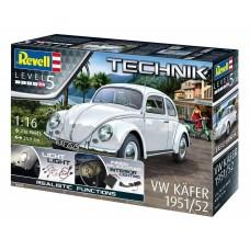 Revell Germany 1/16 VW Kafer Beetle 1951/52 Plastic Model Kit