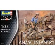 Revell Germany 1/35 ANZAC Infantry (1915) Plastic Model Kit